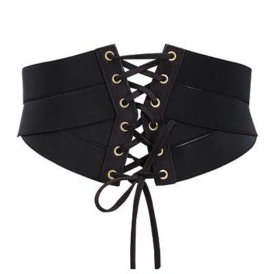 88f00940a916b Aecibzo Women s Elastic Stretch Wide Band Waspie Corset Waist Belt