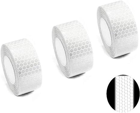 tuqiang/® Nastro Adesivo Alta Visibilit/à Riflettente Colore Bianco 25/mm x 2.5/m
