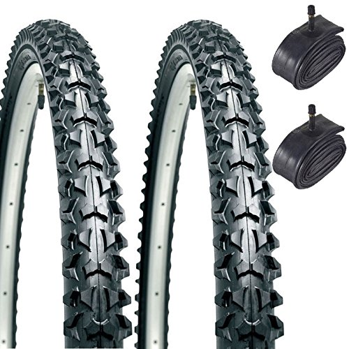 CST Eiger 26' x 1.95 Mountain Bike Tyres with Schrader Tubes (Pair)