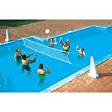 Swimline Cool Jam Combo Basketball/Volleyball Game for In-Ground Pools