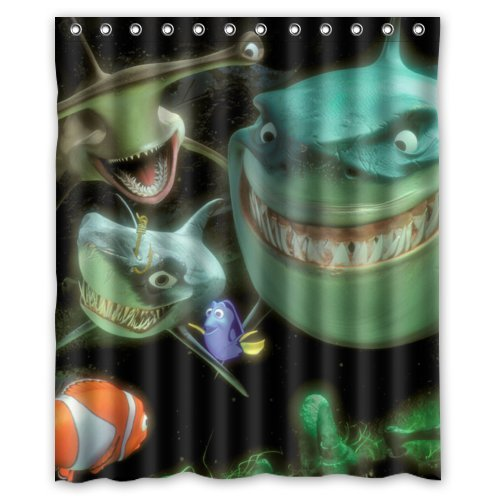 """Finding Nemo Custom Polyester waterproof Bath Shower Curtain Rings Included 60"""" x 72"""""""