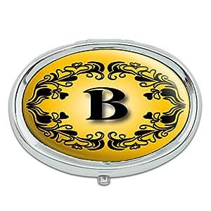 Amazon Com Elegant Letter B Initial Fancy Square Gold