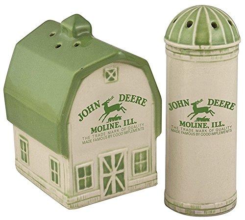 Logo Shaker Set - Deere Vintage Logo Salt and Pepper Shaker Set