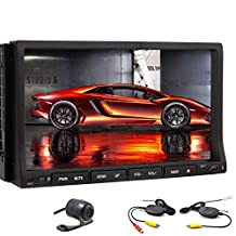 7 inch 2 DIN Universal Android 4.2 Car Stereo Radio Muti-touch Screen GPS Navigation Car DVD Player Support WIFI/Bluetooth/Auto Radio with Wireless Backup Camera
