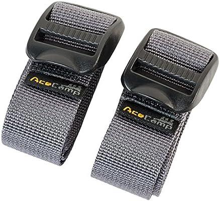 Correas de nailon 60,96 cm AceCamp 9034 2 unidades color gris
