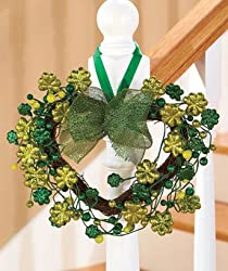 St. Patricks Day Spring Holiday Heart Wreath