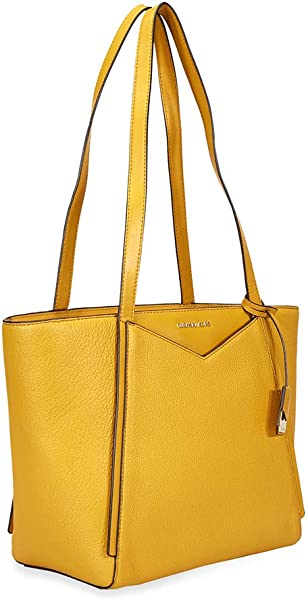 ec491881d628 Michael Kors Small Whitney Pebbled Leather Tote- Marigold. Back. Double-tap  to zoom