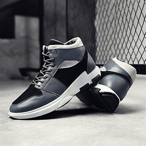 Moda verano Al De Tendencia Otoño Zapatos 2018 Plano Tacón Libre Gris Con Los Cordones Aire Hombres Zapato dwIdOB