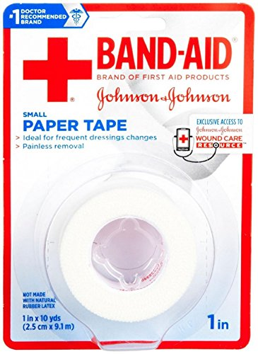 JOHNSON & JOHNSON BAND-AID First Aid Paper Tape 1 Inch X 10 Yards 10 Yards (Pack of 3)