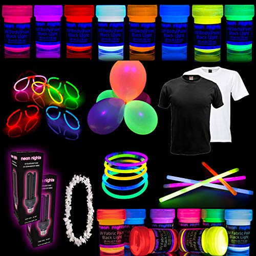 Party Set [XL] neon nights Fun-Pack 65 pieces