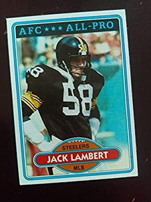 fc3967c8a75 Amazon.com  Jack Lambert (Football Card) 1980 Topps  280 - Pittsburgh  Steelers  Everything Else