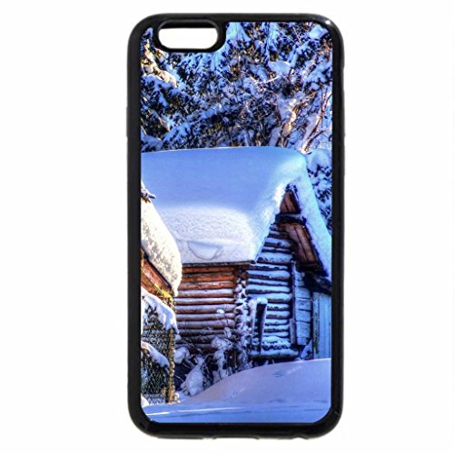 iPhone 6S / iPhone 6 Case (Black) wonderful cabins in heavy winter hdr