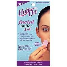 Hair Off Facial Buffer, 1 kit (Pack of 4)