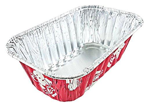 1 lb. Red Aluminum Foil Mini-Loaf/Bread Snowman Holiday Pan
