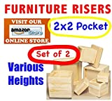 2''x2'' Pocket - Furniture and Bed Risers - SET OF 2