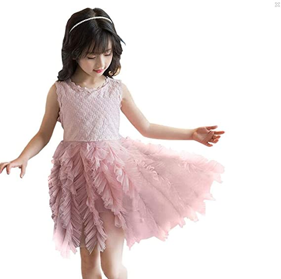c665961d30840 Lucaso 人気 子供服 ドレス 女の子 ワンピース 無地 メッシュ チュール ふわふわ レース 幼児 花柄タンク
