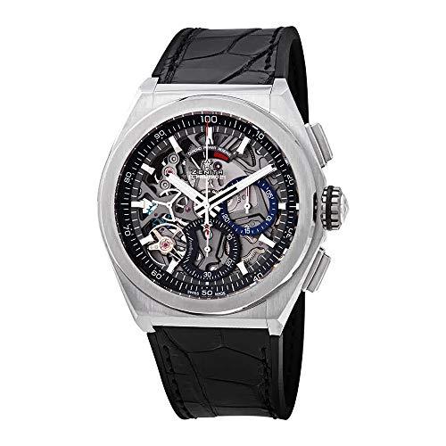 Zenith Defy El Primero 21 Chronograph Automatic Black Skeletal Dial Titanium Men's Watch -