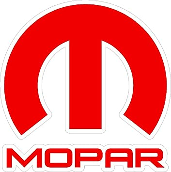 Mopar red white sticker decal