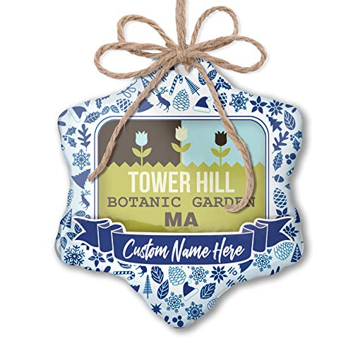 Botanic Garden Tower - NEONBLOND Custom Tree Ornament US Gardens Tower Hill Botanic Garden - MA with Your Name