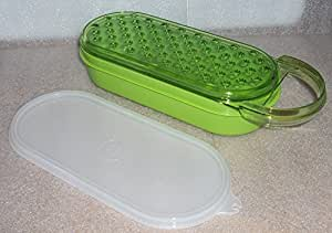 Tupperware Vintage Style Oval Grater, Bowl and Seal, Green