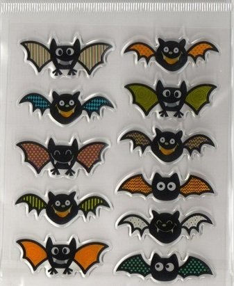 Recollections 3d Epoxy Halloween Bats Stickers -