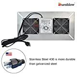 Durablow Stainless Steel 430 Crawl Space Foundation Dual Fans Ventilator + Built-in Dehumidistat, 220 CFM (Model: MFB M2D-S430)