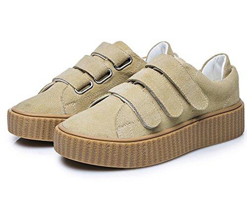 Mme Spring chaussures d'ascenseur boucle chaussures simples chaussures de sport muffin chaussures à fond épais chaussures étudiants , US8 / EU39 / UK6 / CN39