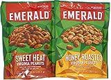 Variety Pack - Emerald Virginia Peanuts (10 oz) - Honey Roasted, Sweet Heat