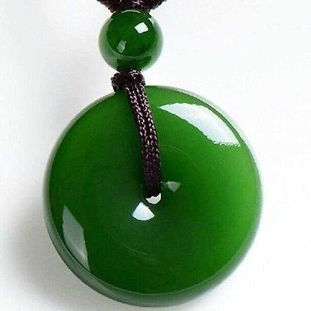 Round Shape Pendant Solid 925-Sterling Silver Pendant Natural Green Jade Lemon AAA+Top Quality Gemstone Pendant Charm+Boho Pendant