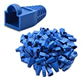 Cable Matters 4-Pack Cat6 / Cat5e RJ45 Strain Relief Boot in Blue (50 Strain Relief Boots per Pack)