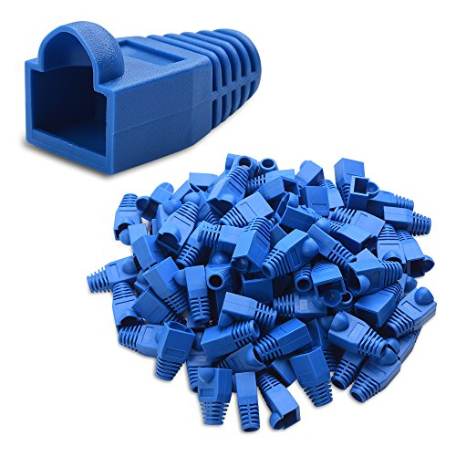 - Cable Matters 4-Pack Cat6, Cat5e RJ45 Strain Relief Boot in Blue (50 Strain Relief Boots per Pack)