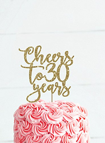 Cheers To 30 Years 30th Birthday Cake Topper Decoration