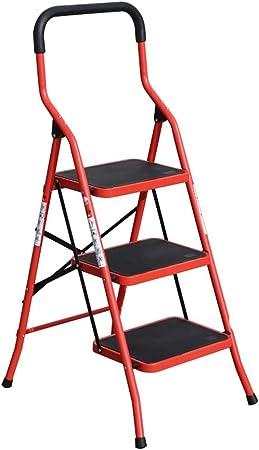Escaleras de mano Escalera de tijera plegable de 3 pasos para la oficina doméstica, reposabrazos elevadores Escalera de escalera antideslizante para adultos, plancha, capacidad para 150 kg, 2 colores: Amazon.es: Hogar