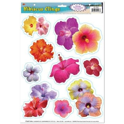 Hibiscus Window Clings (Pack of 48)