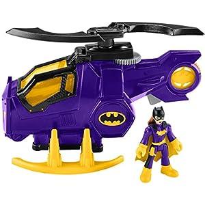514bNKWPMcL. SS300 Fisher-Price Imaginext DC Super Friends Legends of Batman, Batgirl Helicopter - Figures, Multi Color