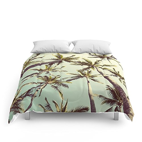 Society6 Palm Trees Sway Comforters Full: 79