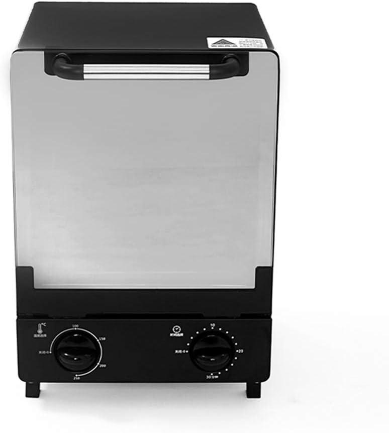 Mini Horno eléctrico vertical del horno microondas de alta calidad mini Tostadora eléctrica del hogar Máquina de hacer pan panadero multifunción,Negro