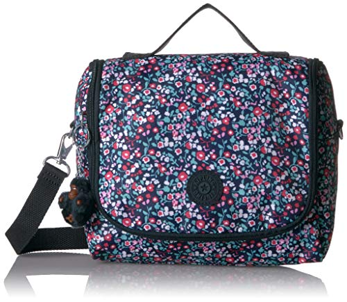Kipling Kichirou Insulated Lunch Bag, Removable, Adjustable Crossbody Strap, Zip Closure, Glistening Poppy Blue