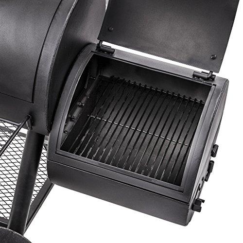 oklahoma joe 39 s longhorn reverse flow smoker import it all. Black Bedroom Furniture Sets. Home Design Ideas