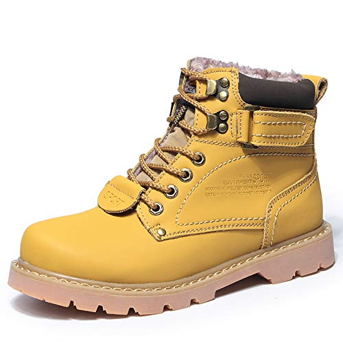 Shukun Herren Stiefel Herren Stiefel Herbst und Winter Herren Martin Stiefel Paar Gelbe Stiefel Frauen Wild Tooling Schuhe hoch zu helfen Desert Stiefel