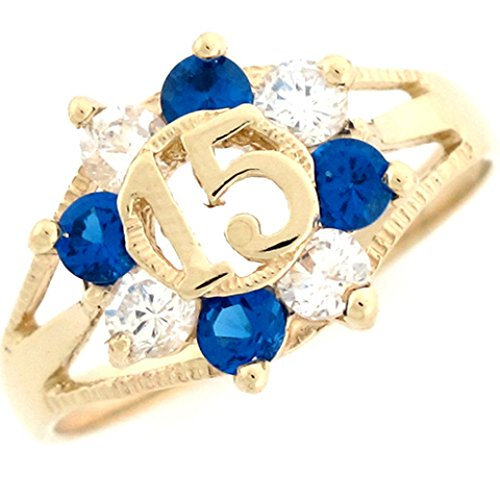 14k Yellow Gold Colorful Simul
