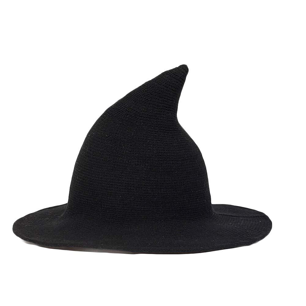 31e91973a38 Amazon.com  MOTZU 1 Piece Women s Wool Felt Sharp Pointed Witch Hat for  Halloween Christmas Costume Party