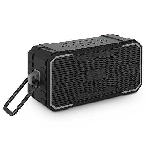 Bluetooth Speakers, BestOnly IPX7 Waterproof with Enhanced Bass and Stereo Sound Portable Wireless Outdoor Speaker, 24 hours long lasting, Handsfree Calling and TF Card Slot, Black