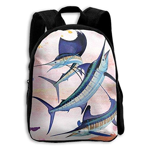 Harvey Marlin Kids Backpacks Double Shoulder Print School Bag Travel Gear Daypack Gift
