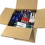 DG Collection (5lb Box Approx. 200-250 pens) Assorted Misprint Retractable Ballpoint Pens Office Ink Pen Supplies Big Bulk Lot