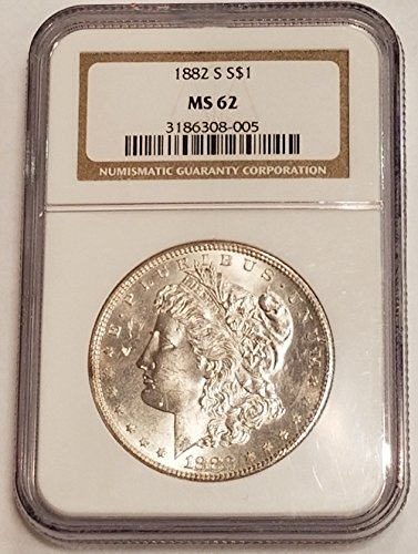 1882 S Morgan Silver Dollar $1 MS-62 NGC
