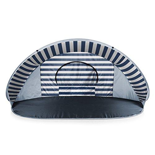 ONIVA - a Picnic Time Brand Manta Portable Pop-Up Sun/Wind Shelter, Navy/White Stripes
