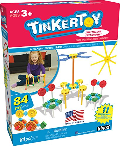 Tinkertoy - Little Constructor's Building Set - 84 Pieces - Ages 3+ Preschool Educational Toy