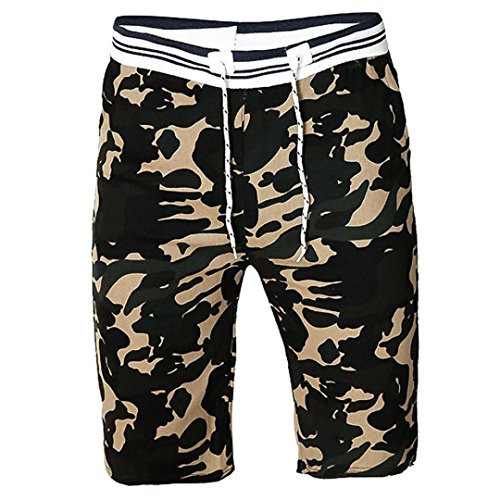 PASATO Clearance! Men Camouflag Shorts, Swim Trunks Quick Sport Beach Surfing Swimming Water Pants(Black, XXXL)