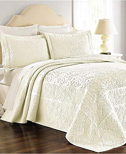 Martha Stewart Collection Bedspread Twin Size Flowering Trellis Ivory